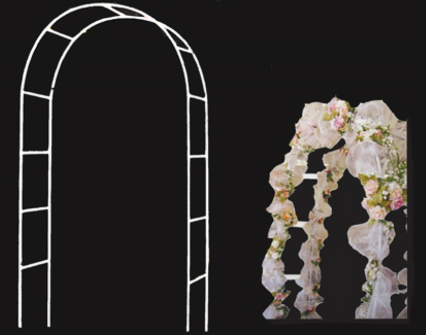 White Metal Wedding Arch (55\