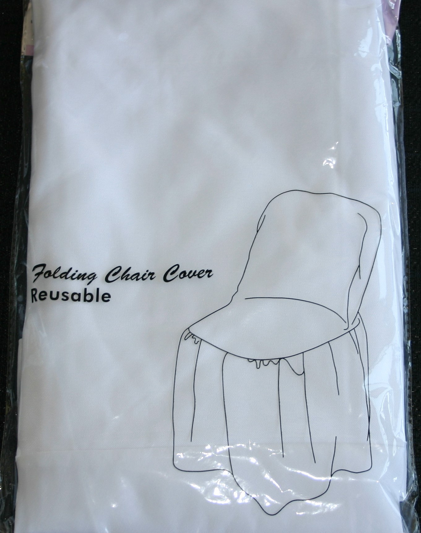 White Chair Cover for Folding Chair