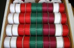 1454C - Wired Edge Christmas Tafetta 2 Yds - 100 Spools @ $0.99/sp.