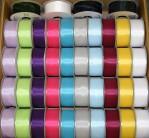 1454 - Wired Edge Taffeta Ribbon 2yds- 100 Spools @ 0.99/spool