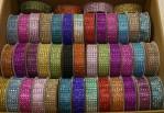 "1637C - 1"" Diamond Ribbon Assorted Colours (128 Spools Per Box At $0.99/sp.)"