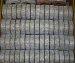 """1637S - 5/8"""" X 36"""" Silver Diamond Ribbon Asst. (Box Of 128 Spools @ $0..75/sp.)"""
