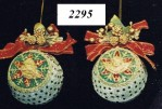 Red & Ivory Ornaments (Min. 24)