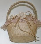 4061 - Burlap Basket