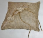 4067 - Burlap Ring Pillow
