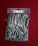 "5"" X 6.5"" Zebra Print Satin Bags/12 Pcs Per Pack"