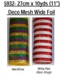 "5932 - 11"" X 10yds Decor Mesh Wide Foil"