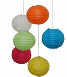 "16"" Paper Lanterns White Only  Min. Purchase 6"