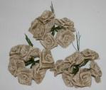 "8314 - 1"" Burlap Roses X 72pcs/pack (12x6)"