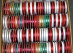 B1 - Narrow Christmas Ribbon X 3yds 144 Spools @ $0.75/sp