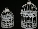 Set Of 2 White Birdcages