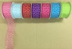 "1.5"" X 25yds Organza Ribbon With Star Print"
