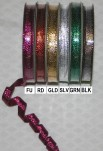 "R5180 - 3/8"" X 10yds Wired Metallic Ribbon"