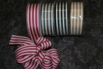 "R5189/9 - 1.5"" X 25yds Cotton Striped Ribbon"
