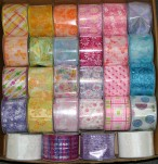 """SPRING 40 - 1 1/2"""" X 10yds Wired Ribbon - 36 Rolls Mixed Colours @$3.99 Per Each"""
