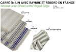 "19.5"" X 19.5"" Striped Linen Square Sheet With Fringed Edge X 12/pcs Per Pack @ $1.70/each"