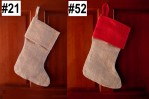 """8"""" X 17"""" H X 14"""" F Jute Stocking With Red Or Natural Cuff"""