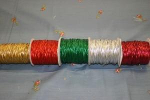 Metallic Elastic Cord/100yds per roll